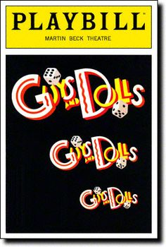 Playbill Cover for Guys and Dolls at Martin Beck Theatre 1992-1995