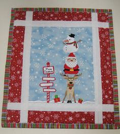 Ho Ho Ho Christmas Trio Mini Quilt Embroidery Project by Pat Williams