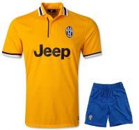 Juventus FC 2013-2014 season Away Yellow Jersey Kit(Shirt+Short)