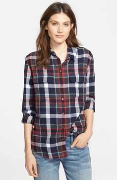 Equipment 'Signature' Cotton Blouse available at #Nordstrom