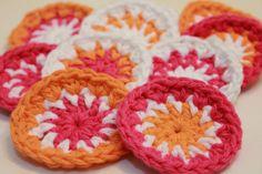 8 Crochet face scrubbies  Colorful Pinwheels by TheGreenDaisy, $9.50