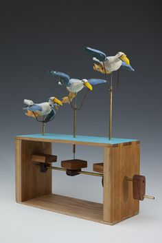 Falmouth Art Gallery | The Permanent Collection | FAMAG 2010.15.1 | Zapata, Carlos (born 1963): View from the Vandermeer, signed and dated 2010, automaton, 38 cms high. Commissioned with funding from the Heritage Lottery Fund.