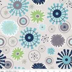 Riley+Blake-Gracie+Girls-Blüten+graugrundig+von+Der+Stoffstand+++auf+DaWanda.com