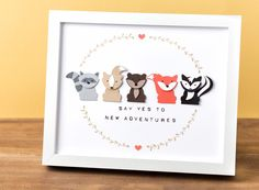 Look at all of the fun little critters you can make with the Foxy Friends stamp set and Fox Builder Punch from #stampinup. This decor piece would be perfect for any nursery or play room!