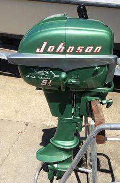 Vintage Johnson 1955 5.5 hp Outboard Motor.