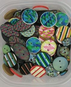 polymer clay buttons - Google Search