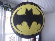 nananananananaNAH Batman! Homemade pinata (front) by Sarah Linck.