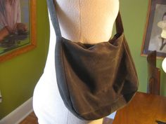 Olive Green Suede Bohemian Purse by HousewifeVintage on Etsy, $14.00