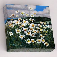Field of Daisies Mini - a painting by Jennifer Vranes -- Jennifer Vranes