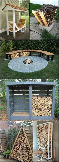 I love the design of the round bench and fire pit!