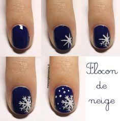 nail art flocon de neige