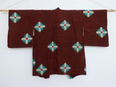 Southwestern Turquoise Haori. Early-mid 20th-century meisen.