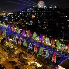 Christmas lights in Medellin Colombia