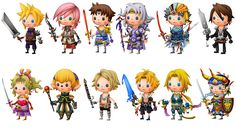 Theatrhythm Final Fantasy Characters
