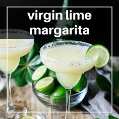 This frozen virgin margarita recipe will have your guests at your next party asking for seconds! Learn how to make this non alcoholic drink in minutes. Margarita Recipe For A Crowd, Pitcher Margarita Recipe, Margarita Recipes, Champagne Margarita Recipe, Non Alcoholic Margarita, Margarita Bebidas, Non Alcoholic Drinks, Beverages, Mexican Drinks