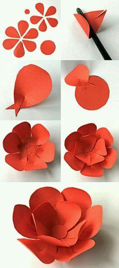 Easy diy paper flowers tutorial easter spring diy ideas how to make paper petal flowers for 5 de mayo mightylinksfo