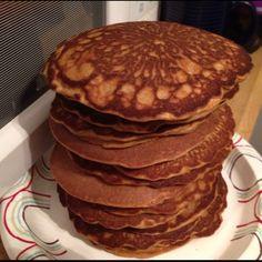 Jamie Eason's pumpkin spice pancakes with vanilla protein powder