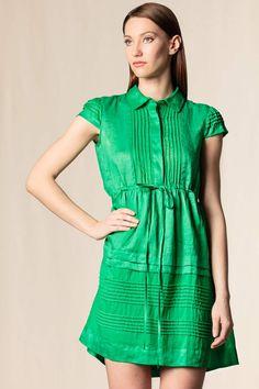Vestito con dettagli verde #scervino #dressingfab #green #dress #shoponline #shopping #fashion