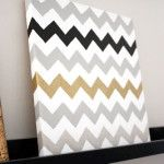 Chevron Painted Canvas by A Simple Kind of Life