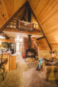 Dempsey photographed this stunning A-frame tiny home while traveling in South Dakota.