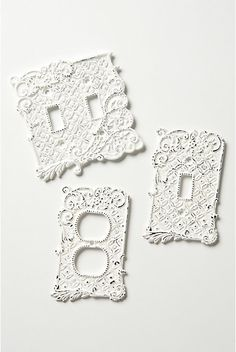 tin roof switch plates. i want soooooo bad but they don't have the double light switch plate anymore :( #Anthropolgie - $18