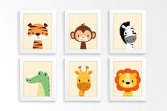 Safari nursery  animal  set of 6 prints by IreneGoughPrints