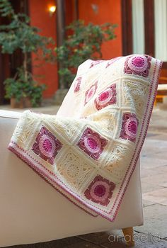 Willow square crochet baby blanket - Anabelia <3