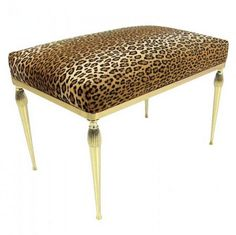 99f8e5e467 Leopard bench. Make from existing thrift store bench or even a small coffee  table.