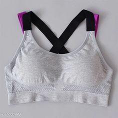 Checkout this latest Bra Product Name: *Women's Padded Sports Bra* Fabric: Nylon Print or Pattern Type: Solid Padding: Padded Type: Sports Bra Wiring: Non Wired Seam Style: Seamless Multipack: 1 Sizes: 30A, 32A, 34A, 36A, 38A, 28B, 30B, 32B, 34B, 36B, 38B, 28C, 30C, 32C, 34C, S, M, L, XL, Free Size (Underbust Size: 27 in, Overbust Size: 55 in)  Easy Returns Available In Case Of Any Issue   Catalog Rating: ★4 (385)  Catalog Name: Women's Padded Short Bralette CatalogID_1852209 C76-SC1041 Code: 573-10227998-0201