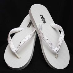 Design your own Crystal and satin ribbon flip flops