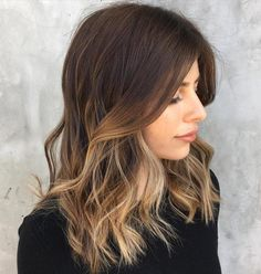 Partial Blonde Balayage For Brunettes