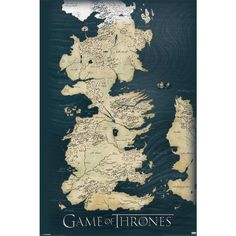 Map (Poster) by Game Of Thrones