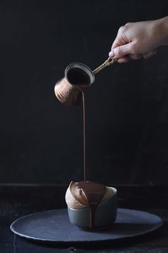 Chocolate Soufflé With Hot Chocolate Sauce #BrownieCake