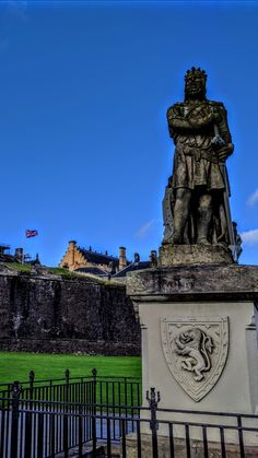 Stirling castle, Robert the Bruce. Scotland.