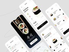 Sushi Restaurants, Mobile App Design, Landing Page Design, User Interface Design, Ui Design, Animation, Animation Movies, Interface Design, Motion Design