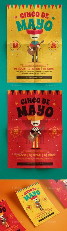 Modern Cinco De Mayo #Flyer - Events Flyers Download here: https://graphicriver.net/item/modern-cinco-de-mayo-flyer/19754173?ref=alena994