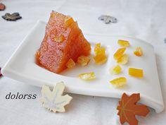 Blog de cuina de la dolorss: Dulce de membrillo o codonyat con naranja confitada (Olla rápida)