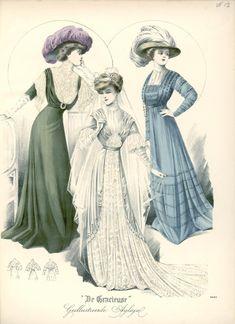 Dresses, 1910 the Netherlands, De Gracieuse