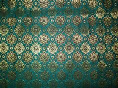 Fat quarter teal blue Indian silk brocade fabric. $3.50, via Etsy. #JulepColorChallenge  #CreateYourJulepColor