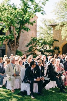 French outdoor wedding ceremony | Image by M and J Photography