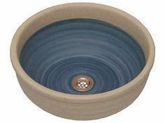 Bacha de cerámica, interior patinado a mano