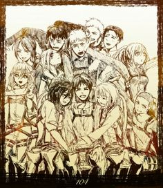 Eren and the 104 the trainie squad
