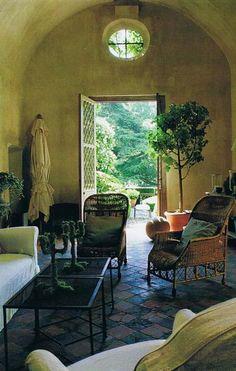 ~A peek of the beautiful countryside through the open door.