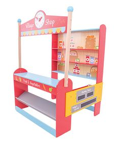 Encourage imaginative play with this vibrant and detailed shop stand that includes plenty of shelf and counter space ready for stocking and selling.   CHOKING HAZARD: Small parts. Not for children under 3 years