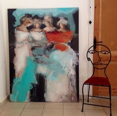 mona nahleh homegallery.Painting 'Fairies'