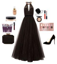 """Black black"" by omneya-samy-el-garf on Polyvore featuring Terre Mère, MAC Cosmetics, Christian Dior, NARS Cosmetics, Maybelline, Jenny Packham, Blue Nile and Alexander McQueen"