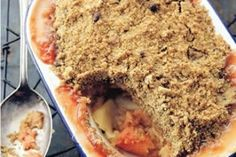 Quince & apple crumble
