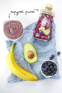 5-Minute Banana, Blueberry Avocado Baby Food Puree