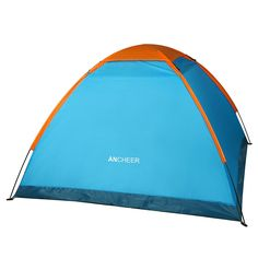 New Ancheer Blue 3-4 Person Single Layer Portable Camping Outdoor Hiking Tent Carry Bag * Visit the image link more details.