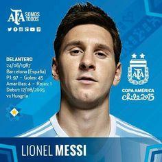 Lionel Messi, seleccion Argentina, Copa America, Chile 2015
